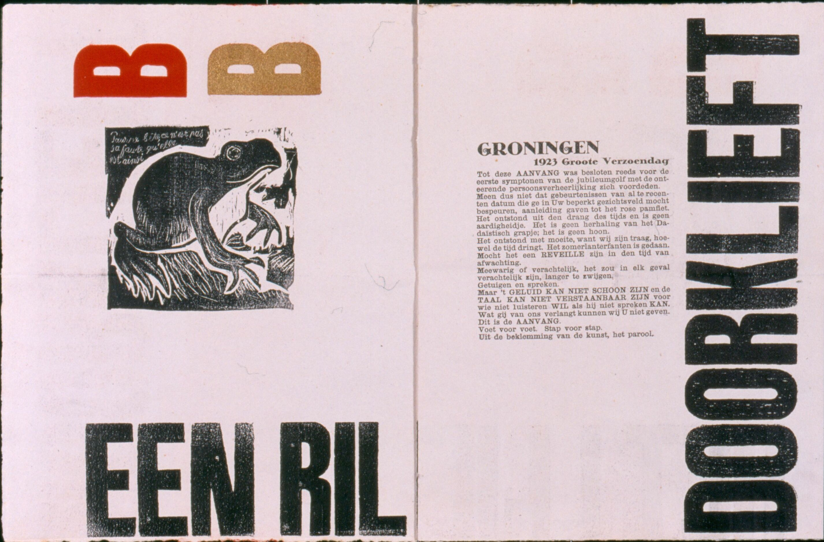 twee pagina's uit G-48a, The Next Call 1, 1923 (Stedelijk Museum Amsterdam)