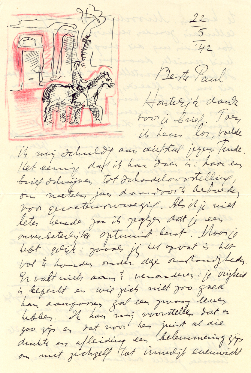 brief aan Paul Guermonprez d.d. 22 mei 1942