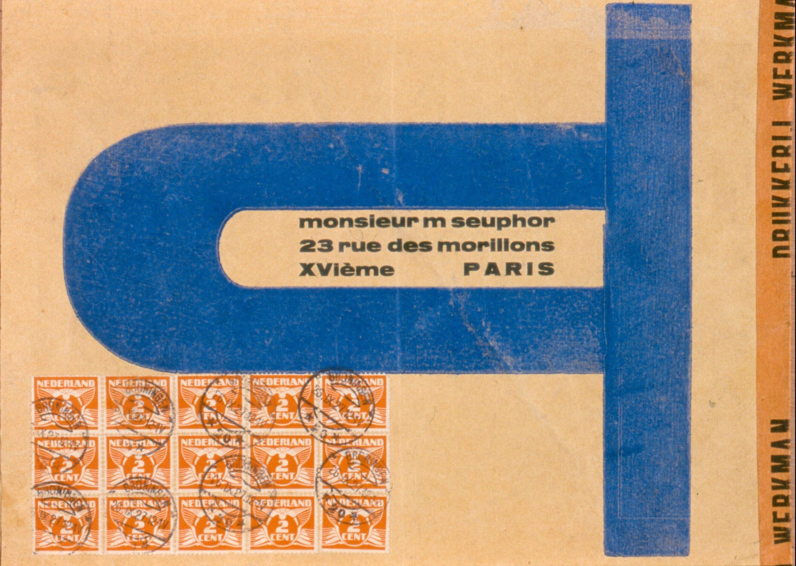 G-111b, envelop voor brief aan Michel Seuphor, 1927 (AMVC Letterenhuis, Antwerpen)